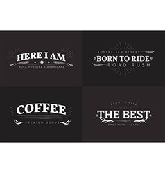 Typography grunge badge design set vector image