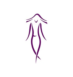 Woman silhouette logo vector image