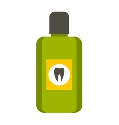 Mouthwash icon flat style vector