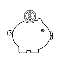 piggy savings money icon vector image