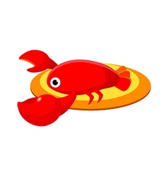Icon crawfish vector