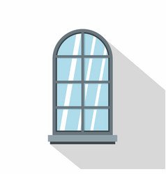 gray arched window icon flat style vector image