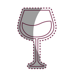 stiker line glass with wine icon image vector image