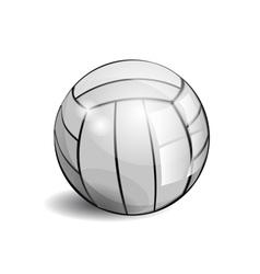 Shiny volleyball vector