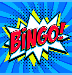 bingo lottery poster lottery game background vector image
