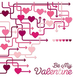 Be my valentine heart maze in format vector