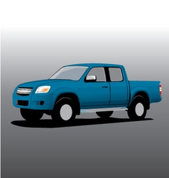 Car cartoon pickup vector