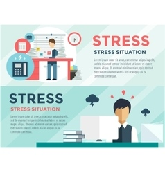 Stress on the work office life and business man vector