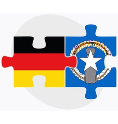 Germany and northern mariana islands flags vector