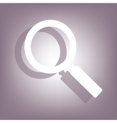 Simple zoom icon vector