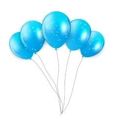 Blue Balloons vector image