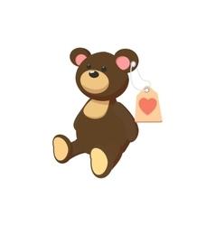 Toy donation teddy-bear cartoon icon vector