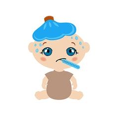 Sick baby vector image
