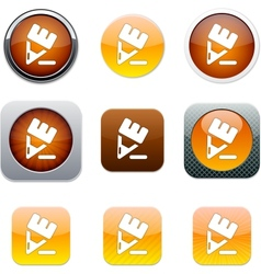 Pencil orange app icons vector