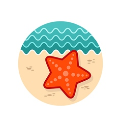 Starfish icon summer vacation vector