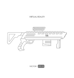 Gun for virtual reality system game weapons vector