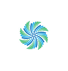 abstract circle swirl ornament logo vector image