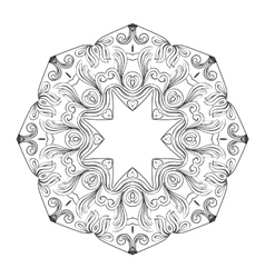 Abstract circular mandala vector