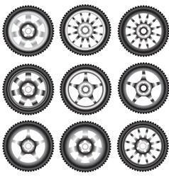 alloy wheels vector image