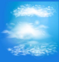 Blue sky with clouds set of clouds vector