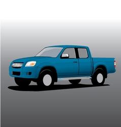 car cartoon pickup vector image vector image