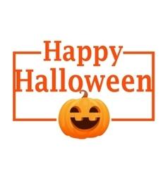 Card orange pumpkin vector image