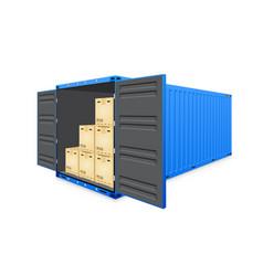 Cargo container vector