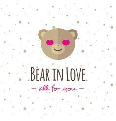 cartoon bear head logo Flat logotype vector image vector image