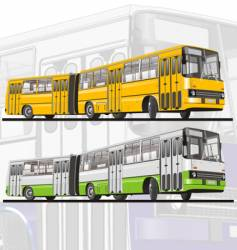 city bus articulated vector image vector image