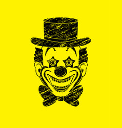 Clown head smile face graphic vector