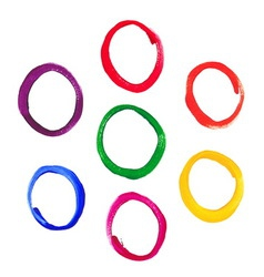 Color acrylic round frames vector