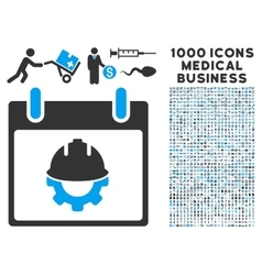 Development calendar day icon with 1000 medical vector