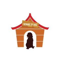 dog cute in house vector image vector image