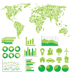 Eco infographic vector