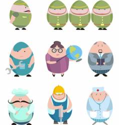 egg shaped community vector image vector image