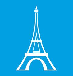 Eiffel tower icon white vector