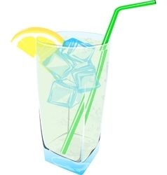 Fresh Lemonade drink ice fresh vector image
