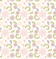Handdrawn seamless floral pattern vector