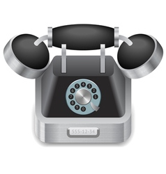 Icon for vintage phone vector image