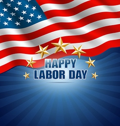 Labor Day in the American Background vector image