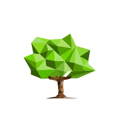 Low poly tree design vector