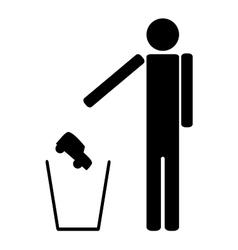 Man throws in the trash car vector