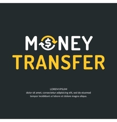 Modern money transfer logo and emblem vector image