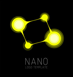 Nanotechnology creative logo design vector