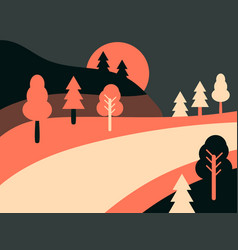 panoramic landscape with highway country road vector image