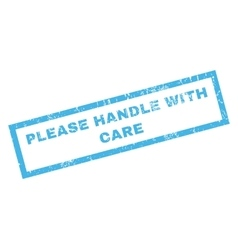 Please handle with care rubber stamp vector