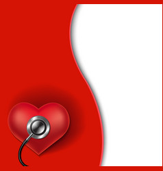 red heart background vector image vector image