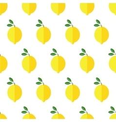 Seamless lemon pattern on white background vector image