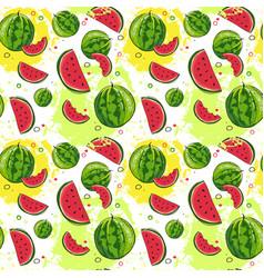 Seamless pattern watermelon tropical summer vector