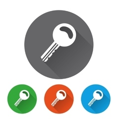 Security icons set with key vector image